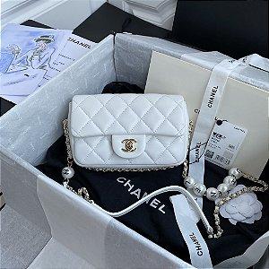 """Bolsa Chanel Single Flap """"White C-H-A-N-E-L"""""""