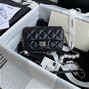 "Bolsa Chanel Single Flap ""Black C-H-A-N-E-L"""