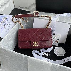 "Bolsa Chanel Single Flap ""Wine & Pearls"""