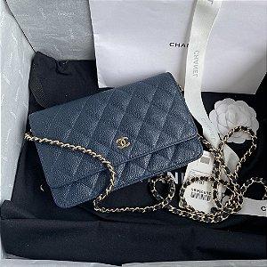 "Bolsa Chanel Woc Granulated Lambskin ""Blue"""