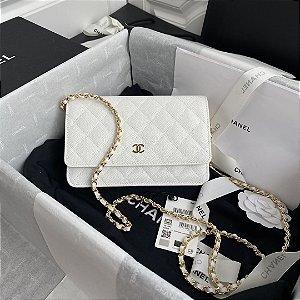 "Bolsa Chanel Woc Granulated Lambskin ""White"""