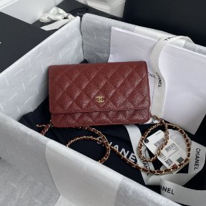 "Bolsa Chanel Woc Granulated Lambskin ""Red"""