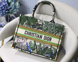 "Bolsa Tote Dior Book  Toile de Jouy ""Jungle"""
