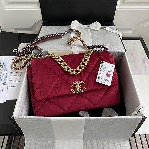 """Bolsa Chanel 19 Velvet """"Cherry"""""""