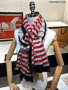 "Cachecol Louis Vuitton ""Monogram Red/White"""