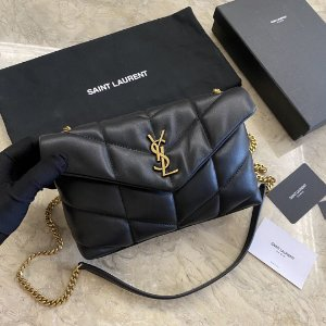 "Bolsa YSL Loulou Puffer Mini ""Black/Gold"""