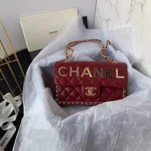 "Bolsa Chanel Single Flap ""RED C-H-A-N-E-L"""