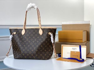 "Bolsa Louis Vuitton Neverfull Monogram ""Beige"""