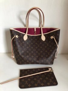 "Bolsa Louis Vuitton Neverfull Monogram ""Pivoine"""