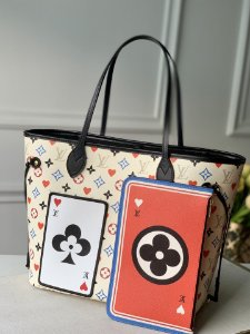 "Bolsa Louis Vuitton Neverfull Monogram Game On ""Blanc"""