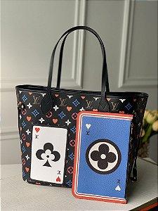 """Bolsa Louis Vuitton Neverfull Monogram Game On """"Noir"""""""
