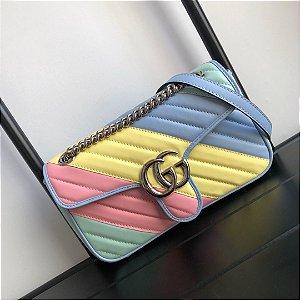 "Bolsa Gucci GG Marmont Diagonal Matelassé ""Multicolour"""