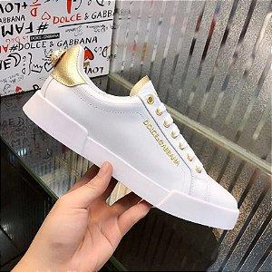 """Tênis Dolce & Gabbana Portofino """"White"""""""