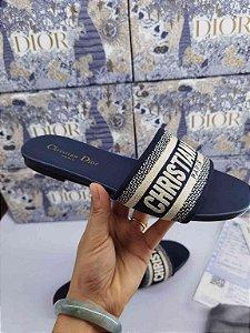 "Rasteirinha Dior MULE DWAY ""Blue"""