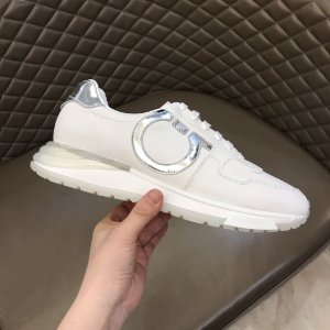 "Tênis Salvatore Ferragamo Brooklyn ""White/Silver"""
