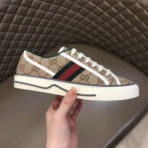 "Tênis Gucci 1977 ""Beige/Ebony GG canvas"""