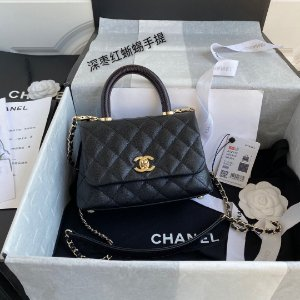 "Bolsa Chanel Top Handle ""Black"""