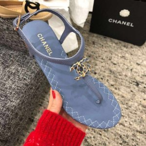 "Sandália Chanel ""Baby Blue"""