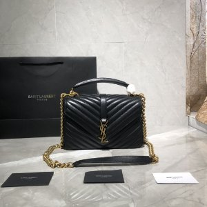 "Bolsa Saint Laurent Envelope ""Black""&Gold"""