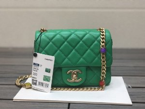 "Bolsa Chanel Single Flap ""Green"""