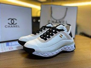 "Tênis Chanel Trainer ""White/Light-Pink"" (PRONTA ENTREGA)"