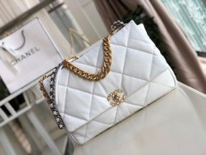 """Bolsa Chanel 19 Velvet """"White"""" (PRONTA ENTREGA)"""