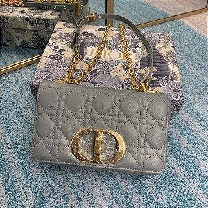 "Bolsa Dior 30 Montaigne Shiny Leather ""Grey"""