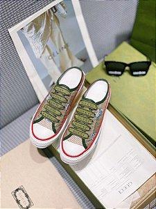 """Tênis Doraemon x Gucci Mule Style """"Green"""""""