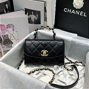 "Bolsa Chanel 19 Top Handle ""All Black"""