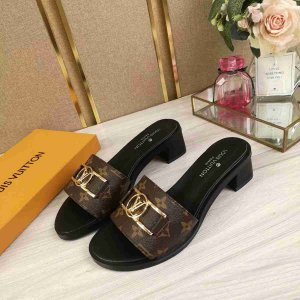 "Mule Louis Vuitton Lock It Monogram ""Black"""