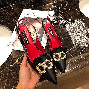 "Slingback Dolce e Gabbana DG Signature ""Black"""
