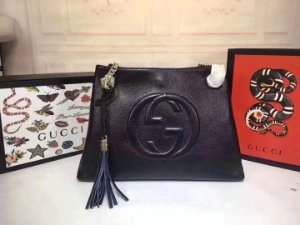 "Shoulder Bag Gucci Big GG ""All Black"""