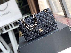 "Bolsa Chanel Double Flap Caviar Gold Version ""Black"""