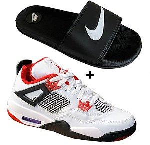 Tenis masculino basquete 4 brad + chinelo slide
