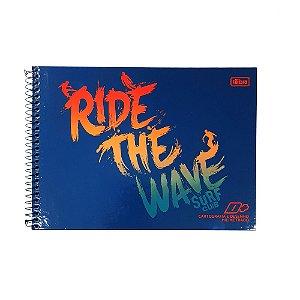Caderno Cartografia e desenho Milimetrado 96F Ride The Wave D+ Tilibra