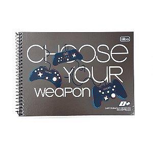 Caderno Cartografia e desenho Milimetrado 96F Chose Your Weapon d+ Tilibra