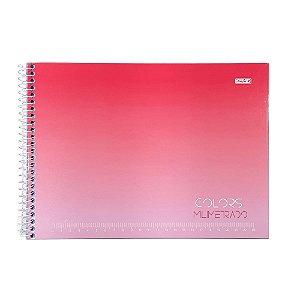 Caderno Cartografia e desenho milimetrado 60F Colors São Domingos