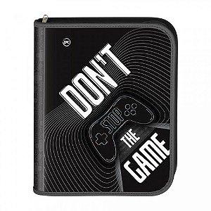 Fichário Universitário Com Zíper Don't Stop The Game + 48 Folhas - 3314 Dac