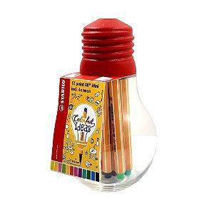 Estojo Lâmpada Stabilo Point 88 Mini 12 cores