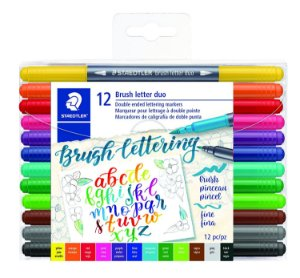 Brush Letter Duo Staedtler 12 cores