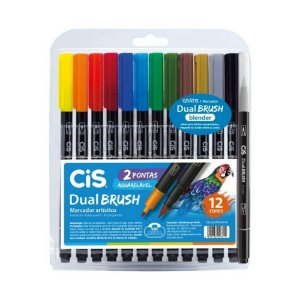 Dual Brush Cis Aquarelável 12 cores