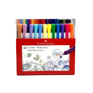 Kit 48 Canetas Fine Pen colors 0.4mm Faber Castell