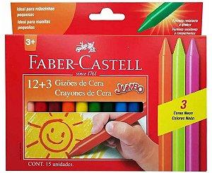 Gizões de cera Jumbo + 3 Neon Faber Castell