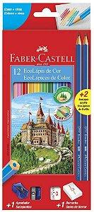 Ecolapis de cor 12 cores + 2 Grafite Faber Castell