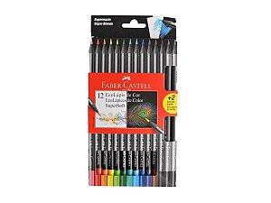 Ecolápis de cor Supersoft 12 cores + 2 Grafite Faber Castell