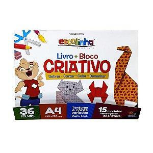 Livro + Bloco Criativo A4 Escolinha Todolivro