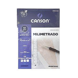Bloco Papel Milimetrado 63g/m² 50 folhas Canson