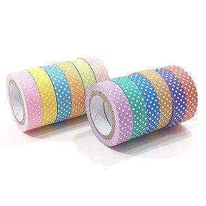 Fita adesiva Decorada PaperTape Renk 10mmx6m 12 cores