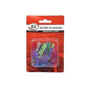 Prendedor Plástico Mini 25 unid. Sortidos AUC5005-25