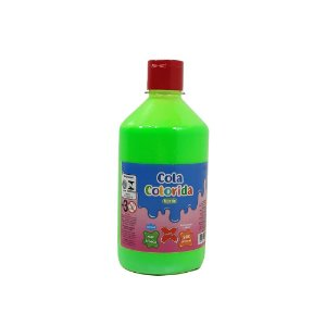 Cola Colorida Verde Make+ 500g Uso escolar e Slime